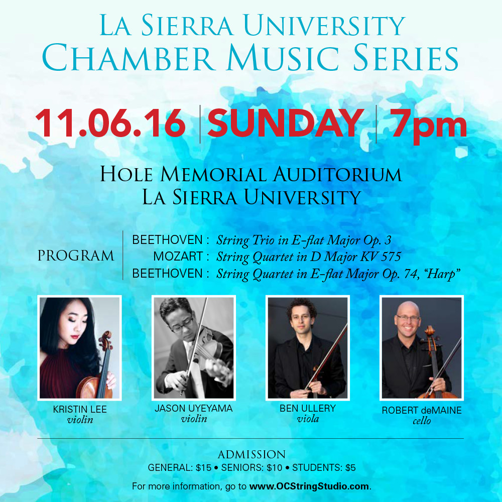 La Sierra Chamber Music Series on November 9, 2016
